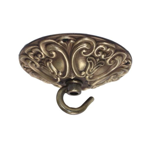 99mm Diameter Solid Brass Hooked Ceiling Rose Plate Antique Finish for Chandeliers